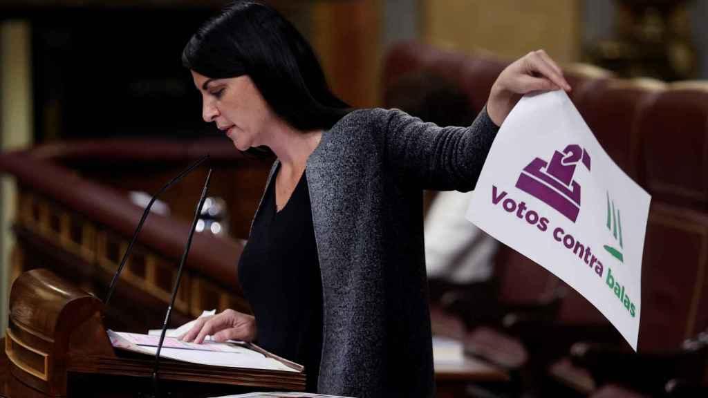 La diputada de Vox Macarena Olona interviene en el Congreso.