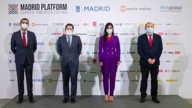 Carlos Morales, Manuel Muñiz, Begoña Villacís y Miguel-Ángel-Redondo, durante la inauguración de Madrid Platform.