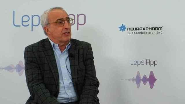 El doctor Javier Salas Puig, el día de la presentación de LepsiApp.