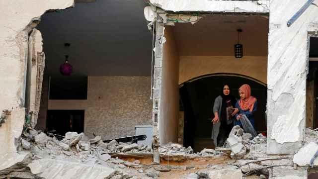 Una casa destruida en territorio palestino.