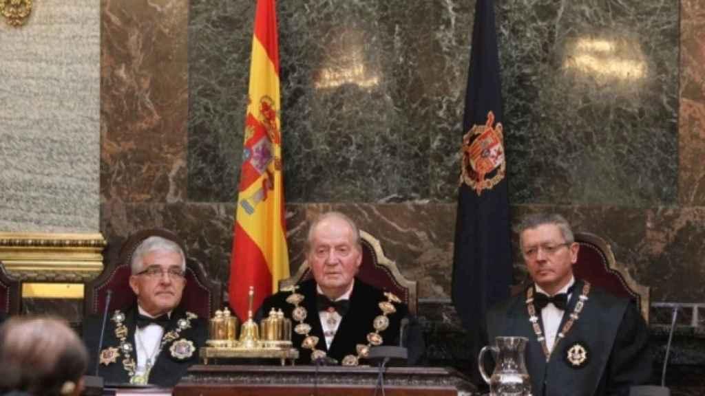 Juan Carlos I en la apertura del año judicial en 2012, en el Tribunal Supremo, al que ahora podría tener que volver.
