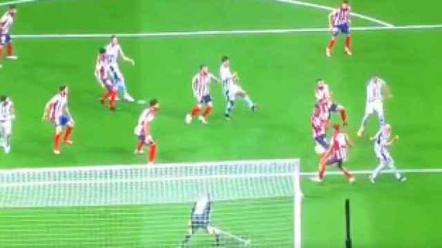 Posible penalti por mano de Marcos Llorente