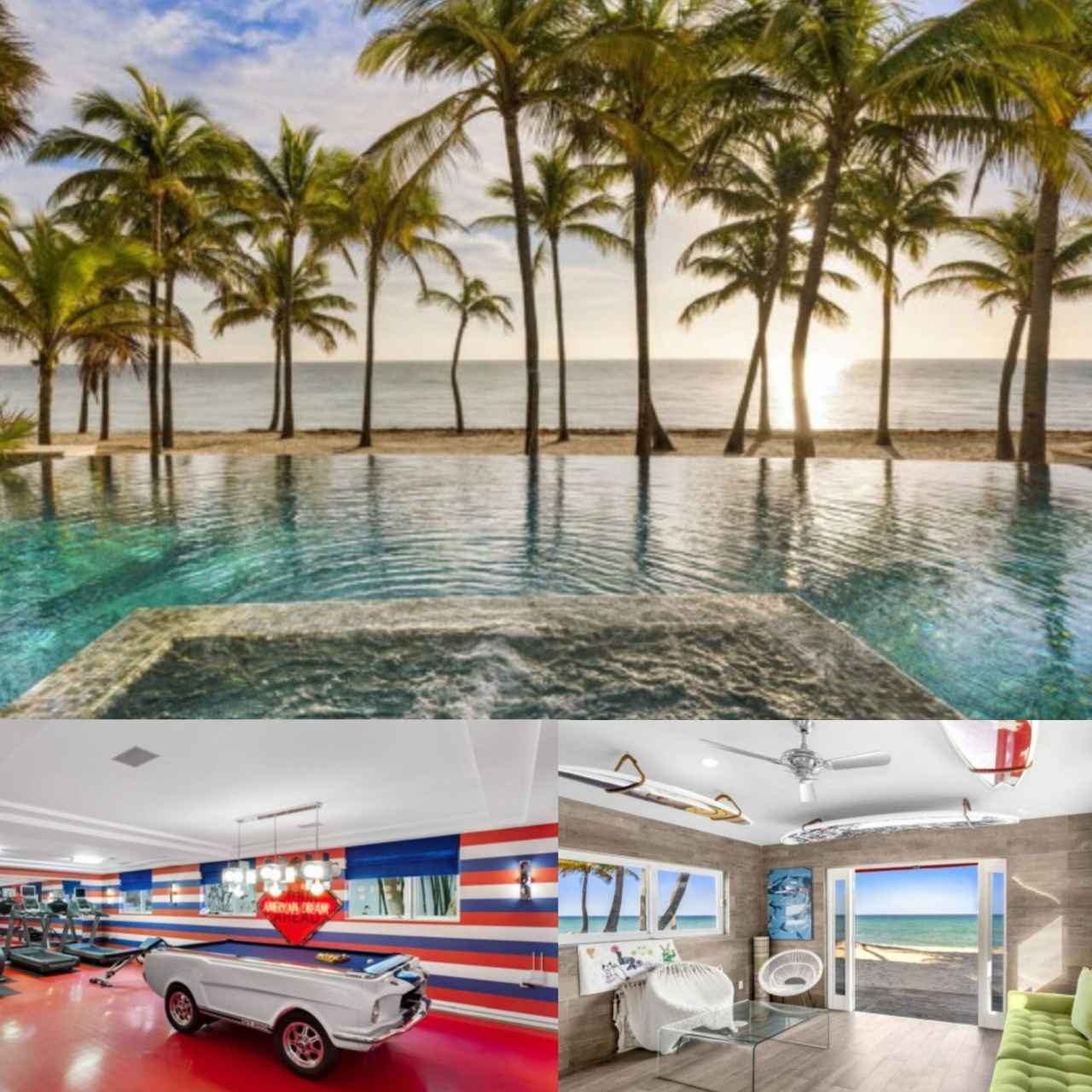 'Collage' with several photos of that house that just sold for 23 million.