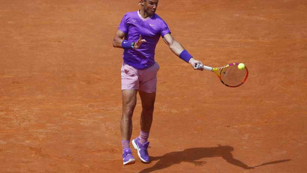 Rafa Nadal, durante su partido ante Denis Shapovalov en el Masters 1.000 de Roma