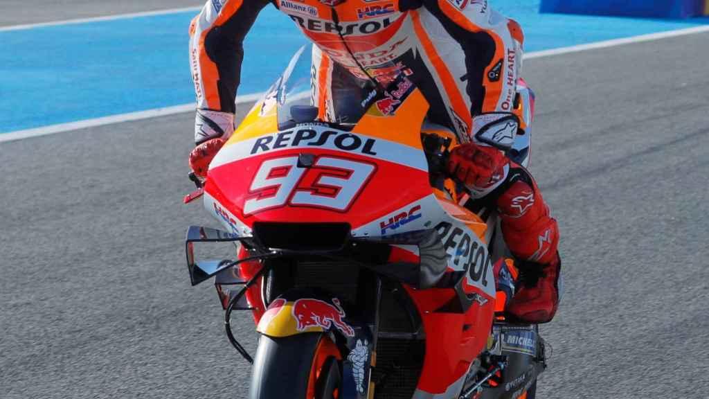 Marc Márquez, en el Gran Premio de España de 2021