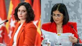 Isabel Díaz Ayuso y Carolina Darias.