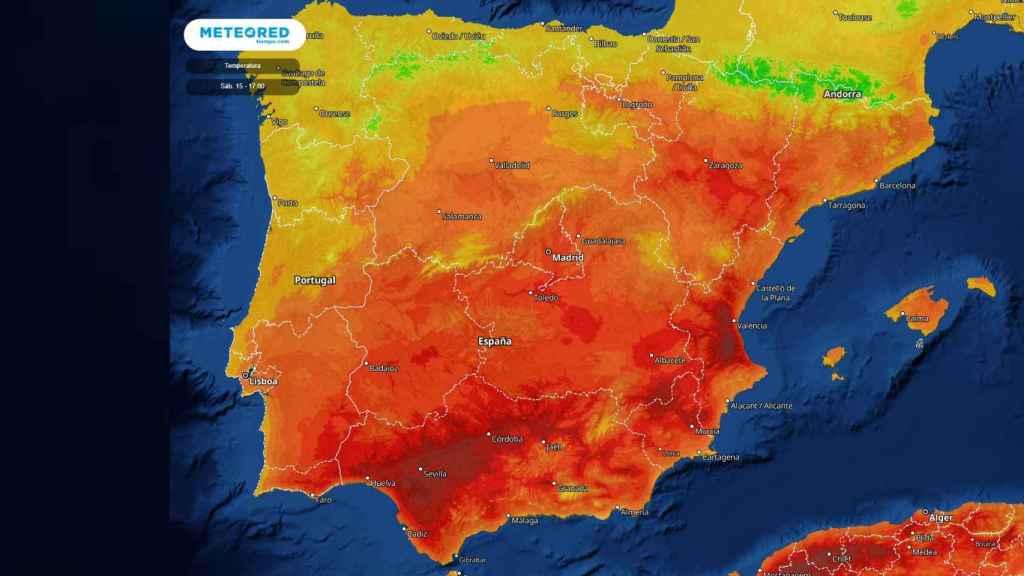 Máximas de temperaturas durante el fin de semana.