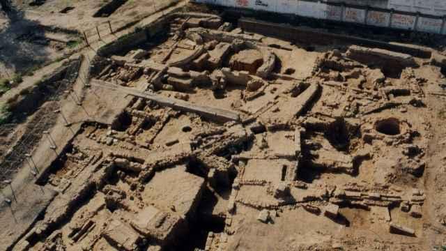 Panorámica del complejo doméstico y agroindustrial de la Zona Arqueológica de Cercadilla (Córdoba).