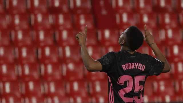 Rodrygo celebra su gol al Granada
