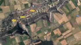 La A-2 a su paso por Argecilla. Imagen obtenida de Google Maps.