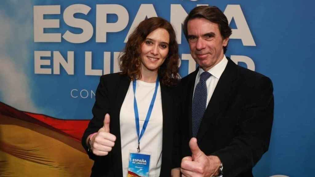 Isabel Díaz Ayuso y José María Aznar.