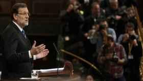 El expresidente del Gobierno, Mariano Rajoy, en el último Debate sobre el estado de la Nación, celebrado en 2015.