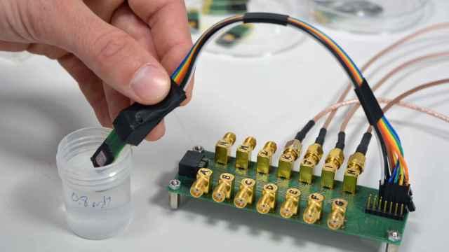 Dispositivo sensor desarrollado en el proyecto KardiaTool.