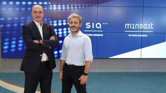 Luis Álvarez, CEO de SIA, y Carlos Beldarrain, director de Cloud Data y Tecnologías Avanzadas de Minsait.