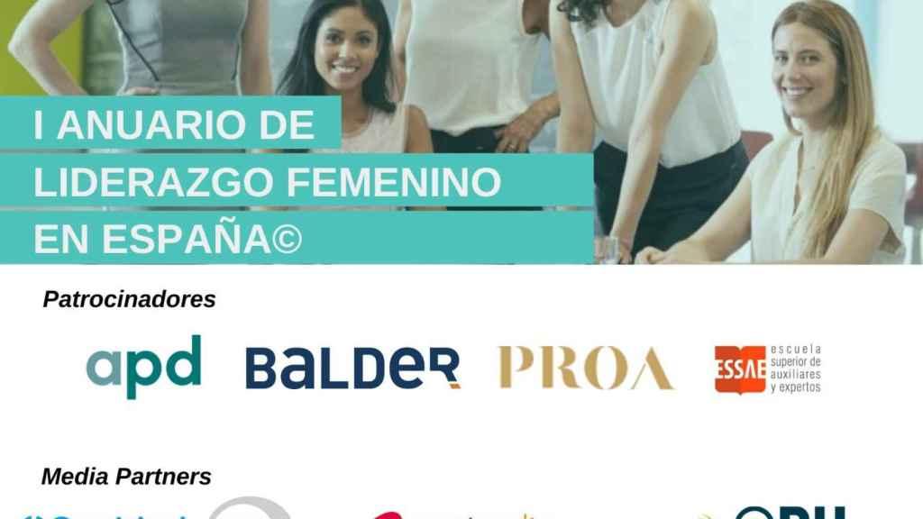Cartel del evento de presentación del Anuario del Liderazgo Femenino en España.