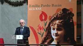 Santiago Muñoz Machado, director de la RAE, durante el acto de homenaje a Emilia Pardo Bazán.
