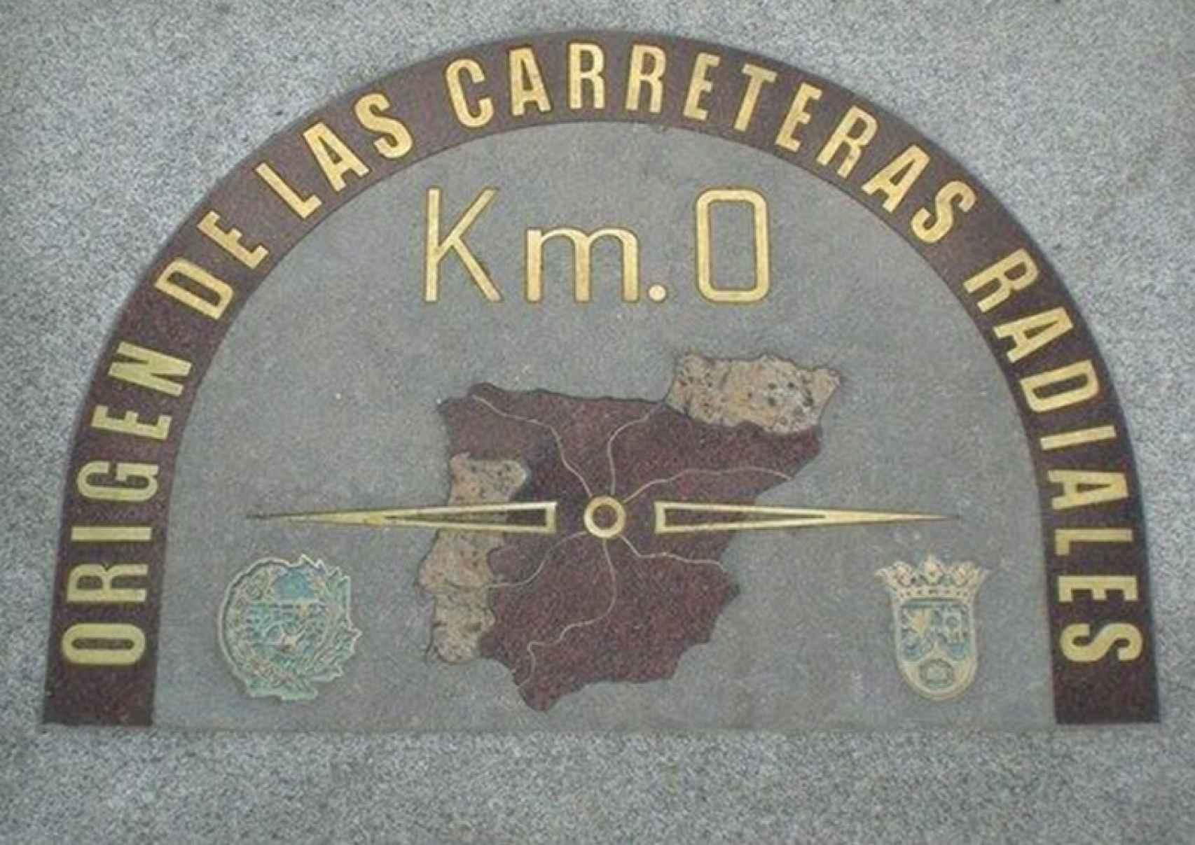 La placa del Km. 0 de la Puerta del Sol