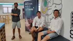 Los tres cofundadores malagueños de la startup Logistiko.