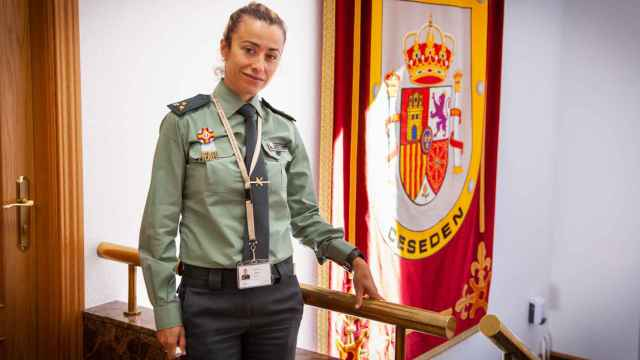 María José Garrido, capitán de la Guardia Civil, en el CESEDEN.
