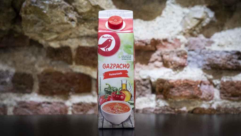 Gazpacho de la marca Auchan.