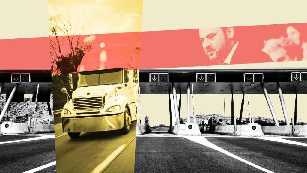 Montaje sobre el pago por uso en las autovías españolas.