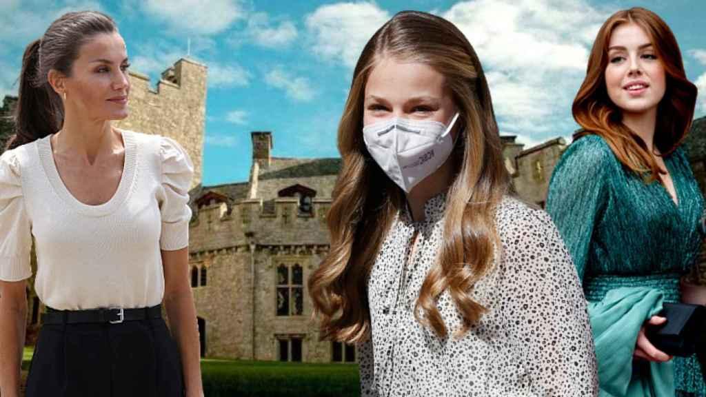Letizia, la princesa Leonor y Alexia de Holanda, en un fotomontaje de JALEOS.