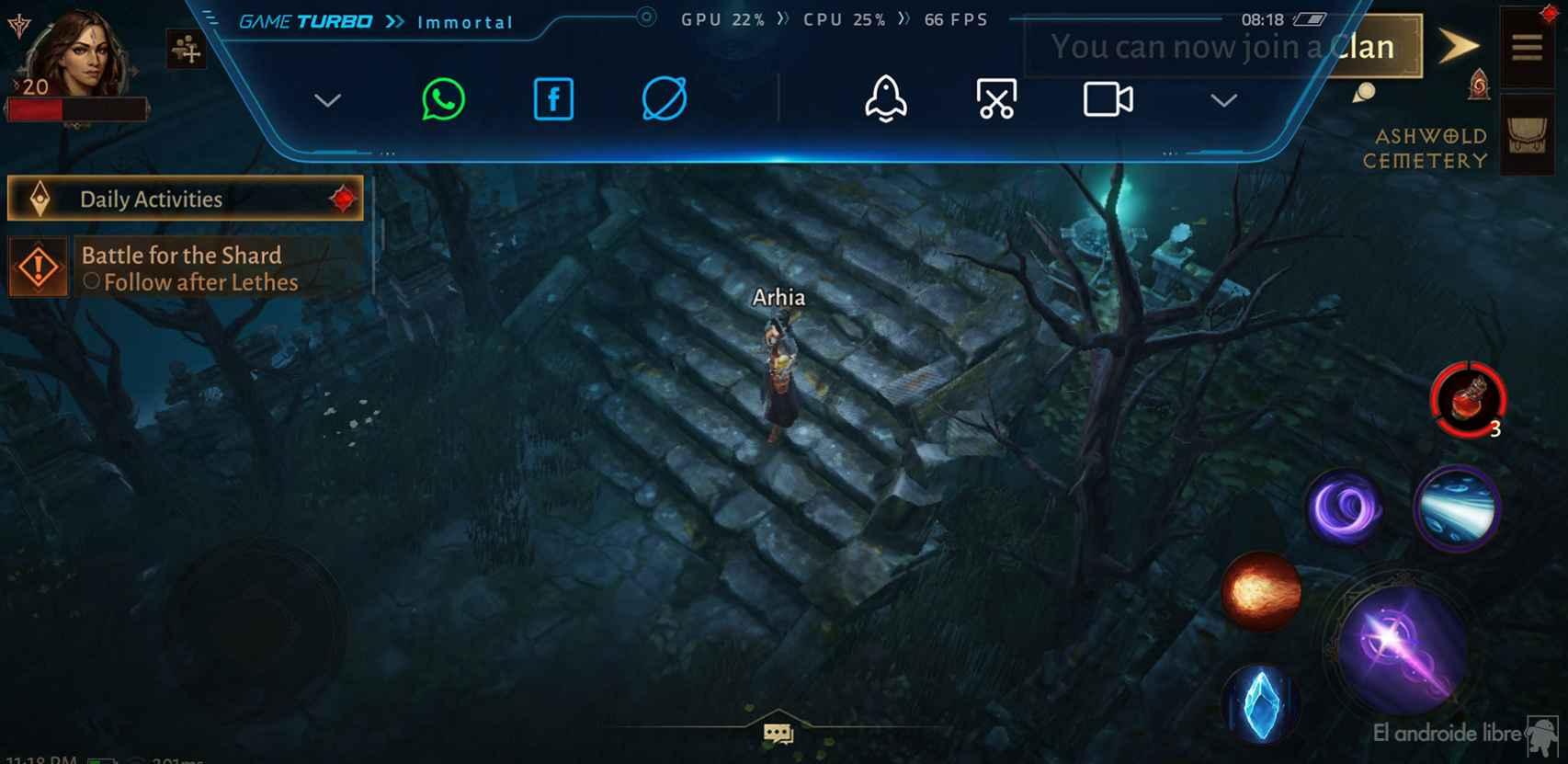 Rendimiento en FPS de Diablo Inmortal