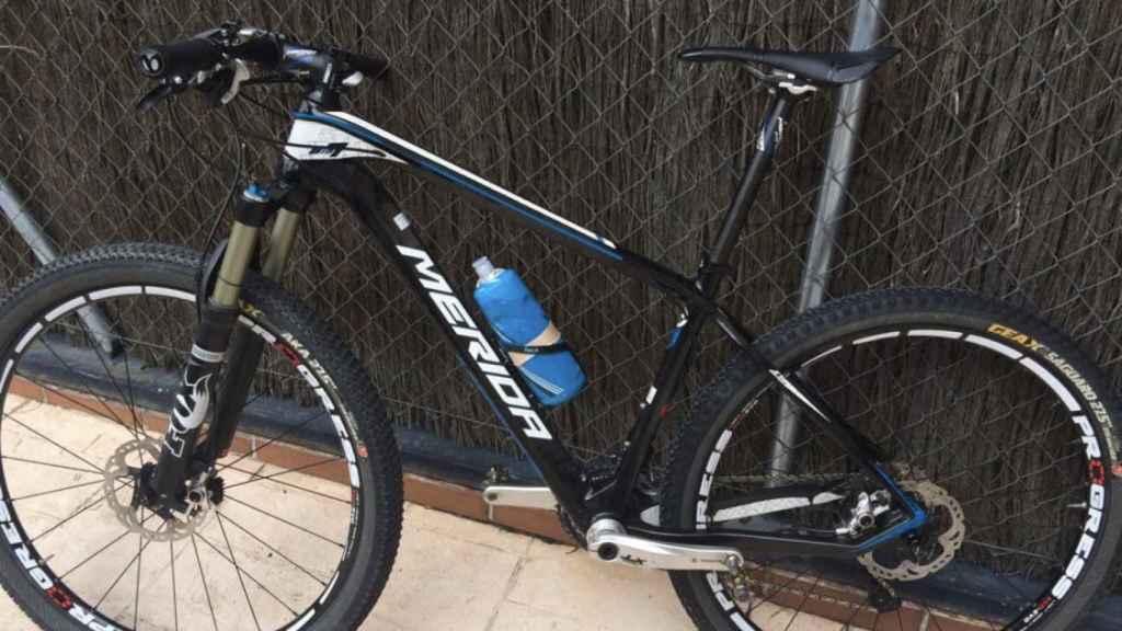 Una de las dos bicicletas que le robaron a Marta Bujosa, valorada en 5.000 euros.