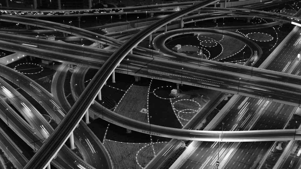 Imagen de unas carreteras.