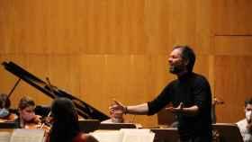 Josep Vicent, durante los ensayos en la Opéra de Rouen Normandie.
