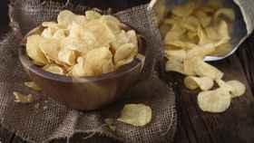 Unas patatas fritas de bolsa.