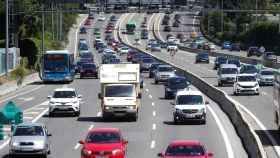 Estado del tráfico en la A6, carretera de A Coruña, en sentido salida de Madrid.