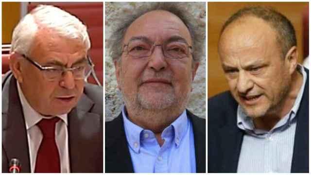 Pepe Cataluña, José Luis Vera y Rafa Rubio, tres socialistas investigados en el 'caso Azud'. EE