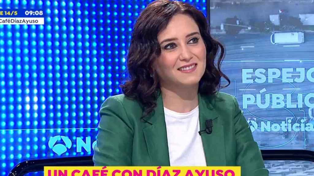 Isabel Díaz Ayuso, presidenta de la Comunidad de Madrid, en Antena 3.