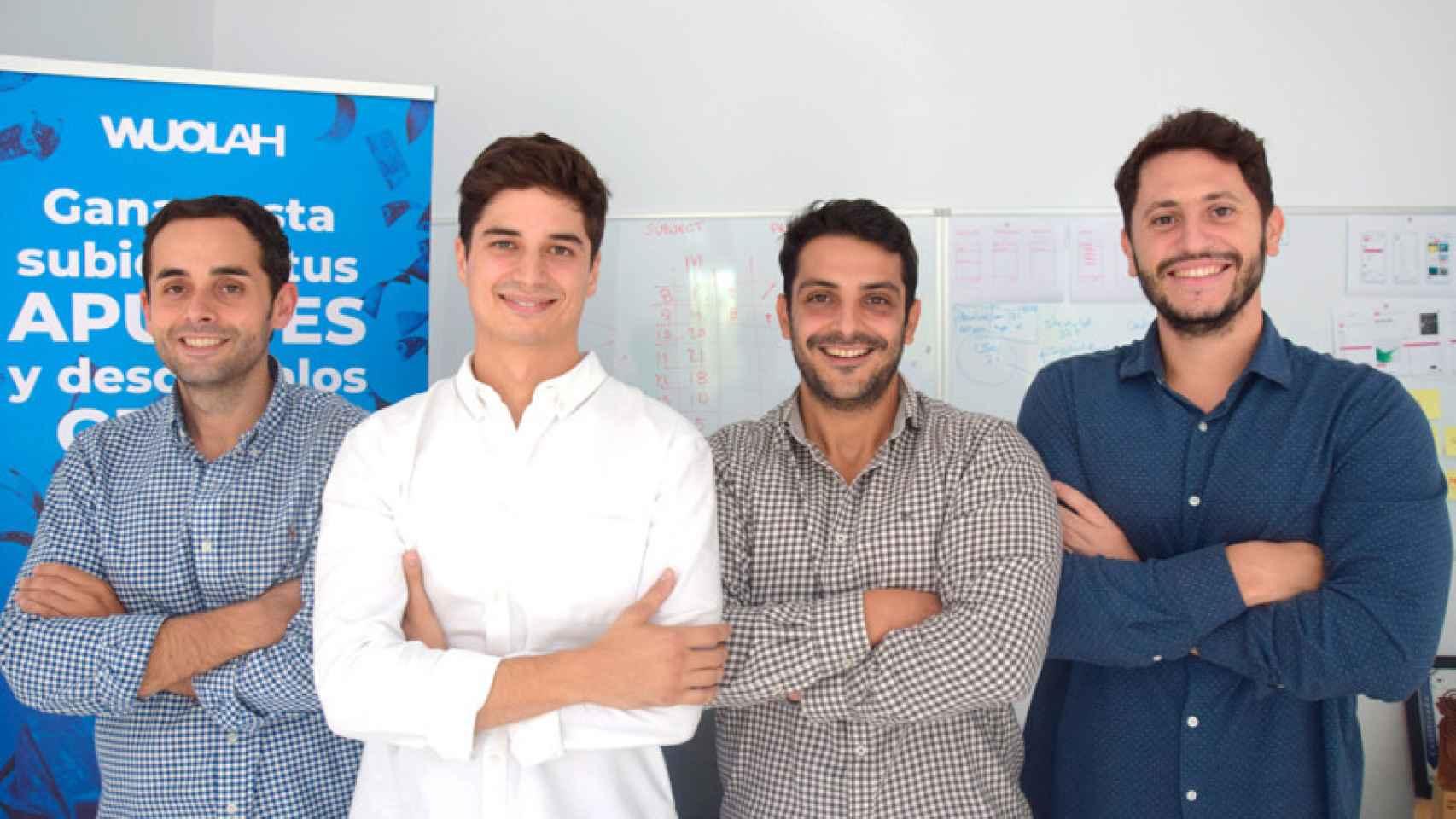 Francisco Martínez, Enrique Ruiz, Javier Ruiz y Jaime Quintero (Wuolah)