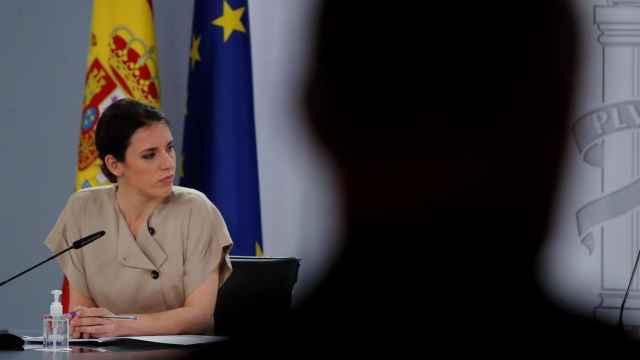 Irene Montero, durante la presentación del Plan de Transformación y Resiliencia.