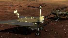 Imagen creada por ordenador del rover marciano de China, Zhurong