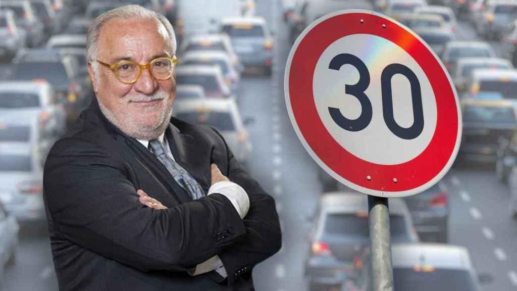 Pere Navarro, director de la DGT, en un fotomontaje.