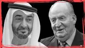 Mohammed bin Zayed Al-Nahyan y Juan Carlos I.