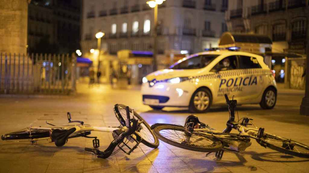 Las bicicletas que dejan Jalid y su novia.