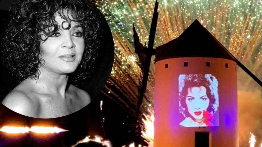 La 'Sierra de los Molinos' de Campo de Criptana ha homenajeado a Sara Montiel.