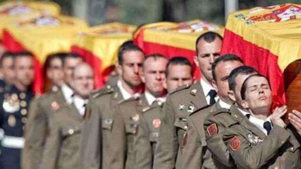 Funeral por los cinco militares que murieron en Hoyo de Manzanares en febrero de 2011.