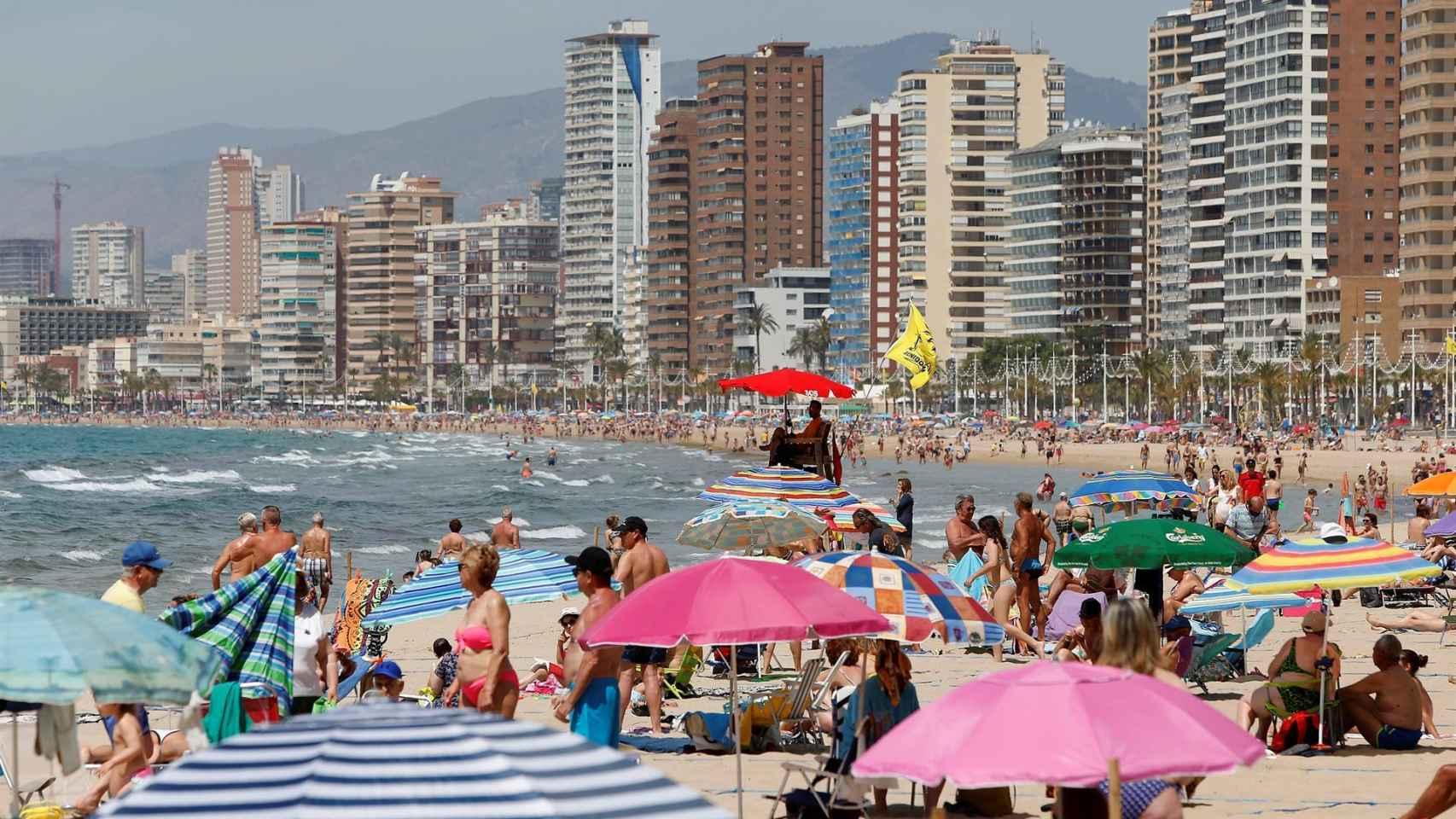 Playa de Levante de Benidorm, este fin de semana.