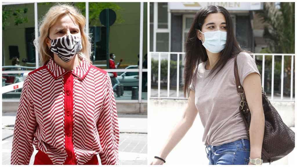 Eugenia Martínez de Irujo y Bárbara Mirjan, a su llegada a la Clínica La Luz de Madrid.