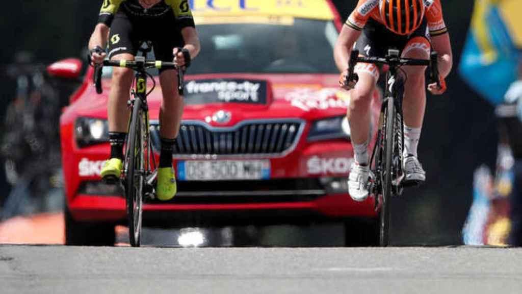 Van Vleuten y Van der Breggen peleando por La Course by Le Tour 2018