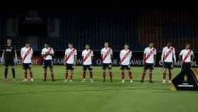 Los jugadores de River Plate antes de un partido