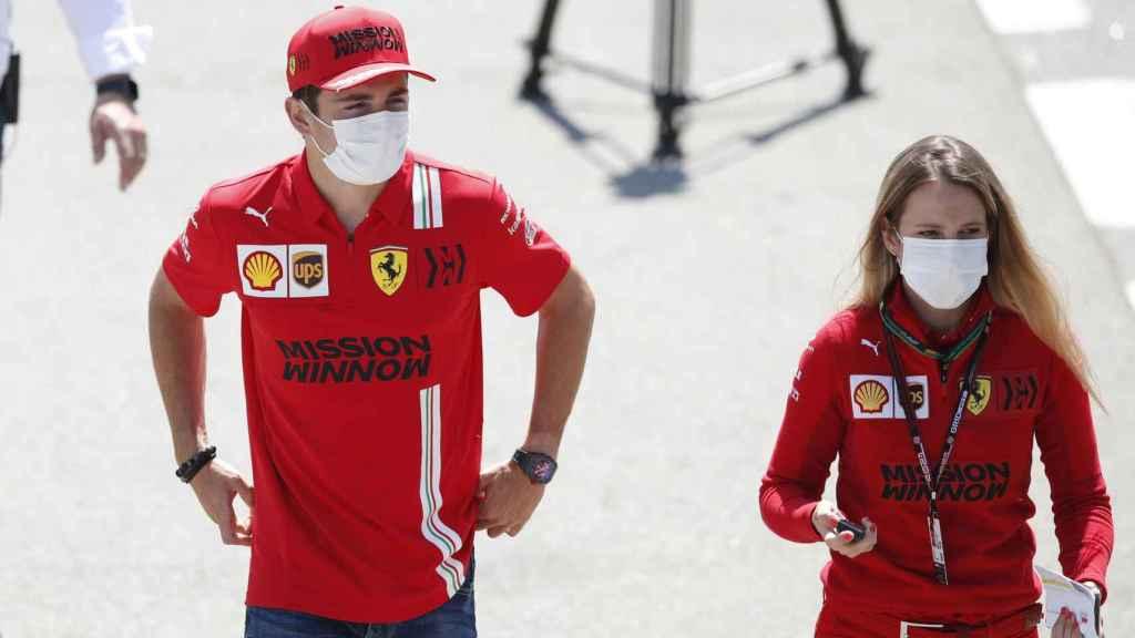 Charles Leclerc en el Gran Premio de España de Fórmula 1