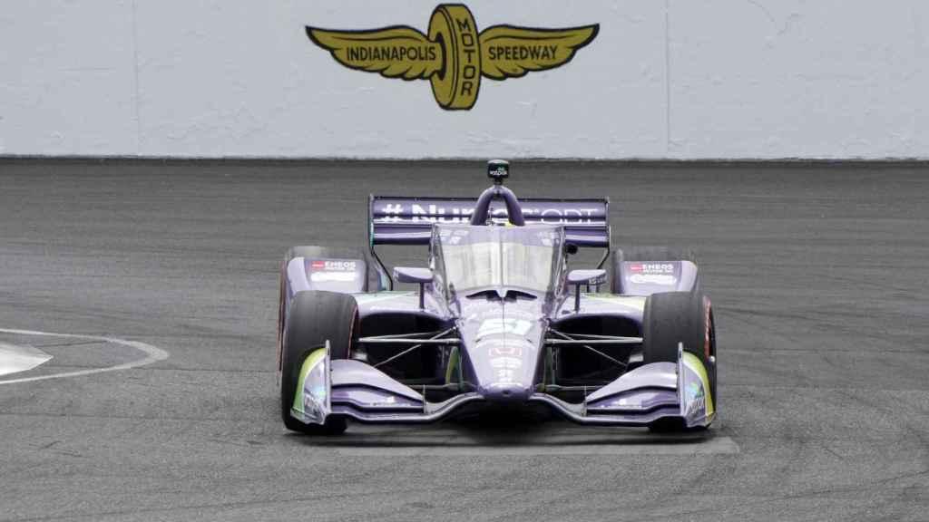 Grosjean pilotando su Dale Coyne Racing en el GP de Indianápolis 2021
