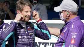 Grosjean, contento tras conseguir su primera pole en la IndyCar
