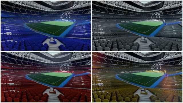 Diseño 3d de los nuevos asientos del Santiago Bernabéu